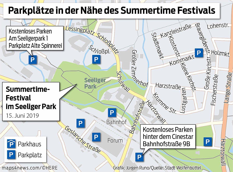 Hier können Besucher von auswärts am Samstag parken.