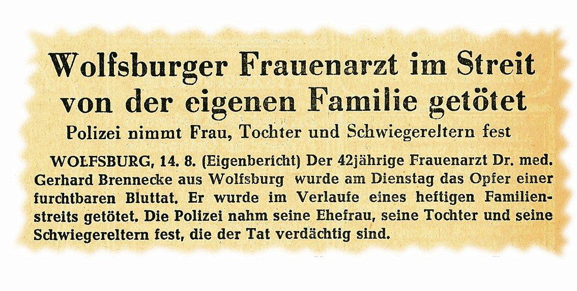 Meldung aus den Wolfsburger Nachrichten.